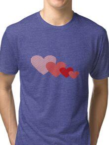 Patchwork Hearts Tri-blend T-Shirt