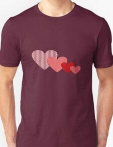 Patchwork Hearts Unisex T-Shirt