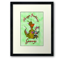 George - Happy Birthday card Framed Print
