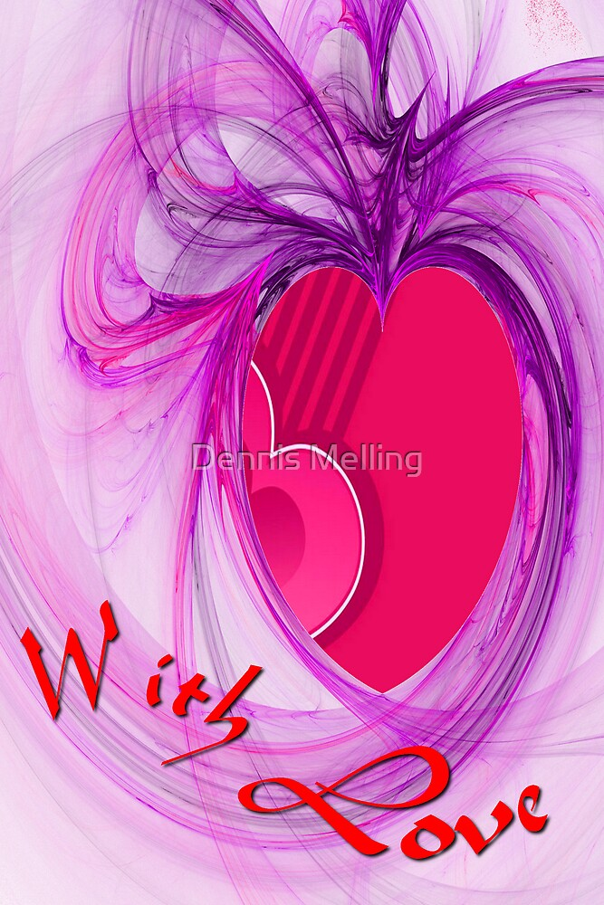 With Love card by Dennis Melling