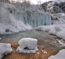 Plitvice in winter by Ivan  Prebeg