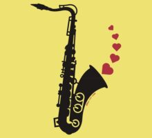 Sax and Love One Piece - Short Sleeve