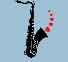 Sax and Love Womens Fitted T-Shirt