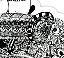 Panda. Love. Elephant travel Sticker