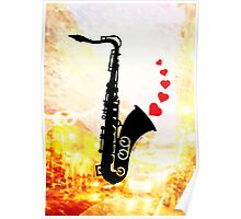 Sax and Love Poster