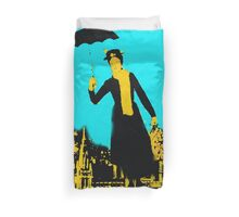 Mary in the city Duvet Cover