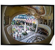 Bellagio Conservatory and Botanical Gardens Fisheye View Poster