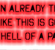 Devil May Cry 3 Dante Quote T Shirt Sticker