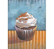 Summertime Yellow Cupcake Photographic Print