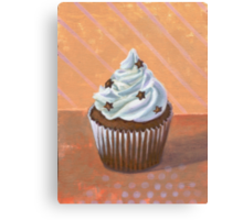 Chocolate Stars Cupcake Canvas Print