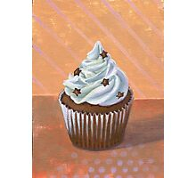Chocolate Stars Cupcake Photographic Print