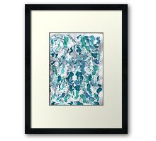 SQUIGGLY BLUES Framed Print
