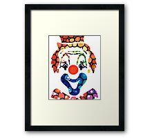 Clownin Around - Funny Circus Clown Art Framed Print