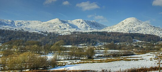 The Coniston Fells In Winter by Jamie  Green