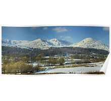 The Coniston Fells In Winter Poster