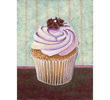Champagne Chic Cupcake Photographic Print