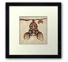 Doodles by David Kawena - Bat Framed Print