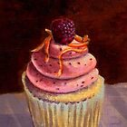 Purple Raspberry Cupcake by sivieriart