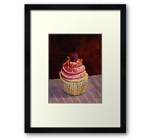 Purple Raspberry Cupcake Framed Print
