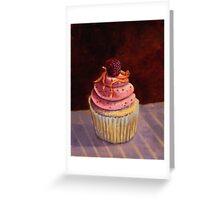 Purple Raspberry Cupcake Greeting Card