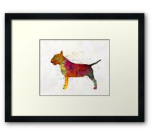 Bull Terrier in watercolor Framed Print