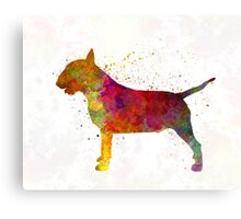 Bull Terrier in watercolor Canvas Print