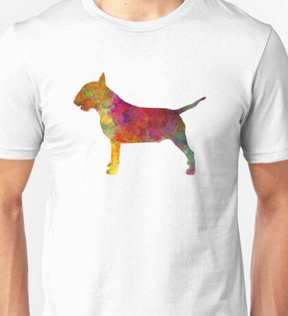 Bull Terrier in watercolor Unisex T-Shirt