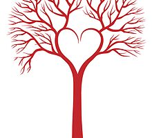 red love tree with heart branches by beakraus