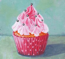 Pink Mountain Cupcake by sivieriart