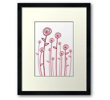 abstract red roses Framed Print
