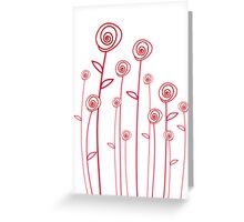 abstract red roses Greeting Card