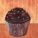 Chocolate Monster Cupcake by sivieriart