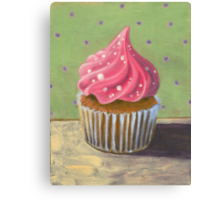 Russian Pink Cupcake Canvas Print