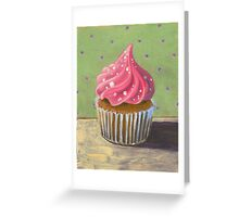 Russian Pink Cupcake Greeting Card