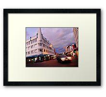 evening, brisbane street (launceston) Framed Print