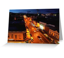 evening, elizabeth street (hobart) Greeting Card