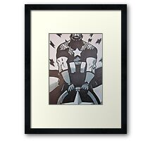 The Cap in Black and White Framed Print