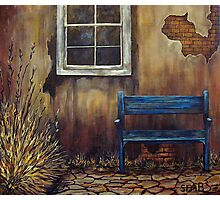 The Blue Bench Photographic Print