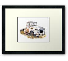 Kazart Rusty Truck Framed Print