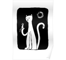 Cat & Mouse - Black Poster