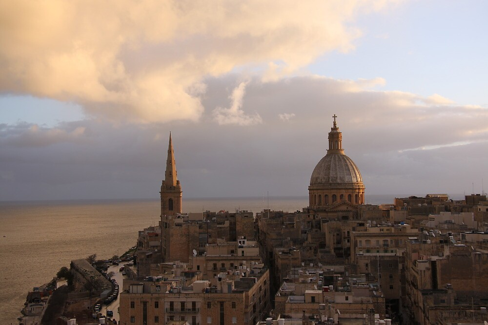 Two churches in Valletta by erwina