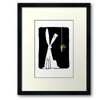Rabbit & Carrot - Black Framed Print