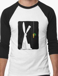 Rabbit & Carrot - Black Men's Baseball ¾ T-Shirt