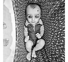 baby in the thar desert rajasthan india Photographic Print