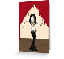Gothic Tribal Fusion Bellydancer Greeting Card
