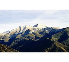 Ojai Valley With Snow Photographic Print