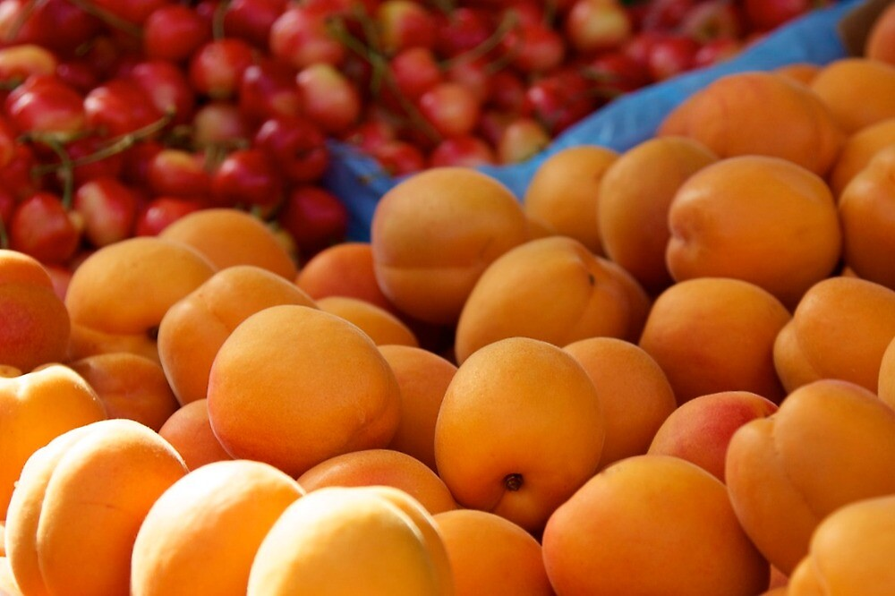 apricots and cherries by thvisions