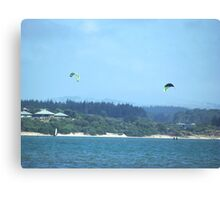Kitesurfers at Mangawhai, New Zealand Canvas Print