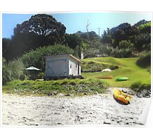 Little holiday house by the beach Poster