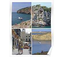 Menorca Collage 02 - Labelled Poster